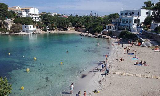 Playa de Santandria en Ciutadella