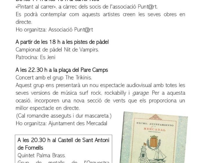 Programa de fiestas Sant Martí 2020