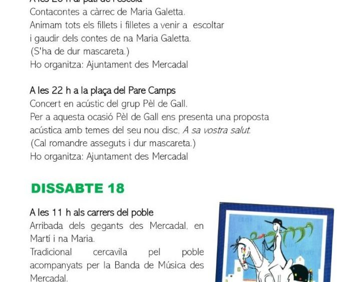 Programa de fiestas Sant Martí 2020 pág5