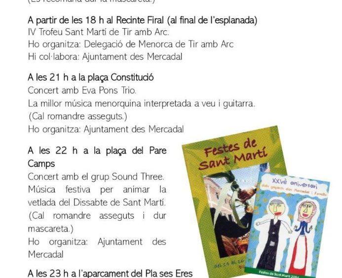 Programa de fiestas Sant Martí 2020 pág6