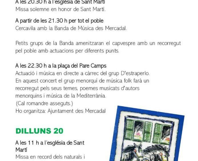 Programa de fiestas Sant Martí 2020 pág7