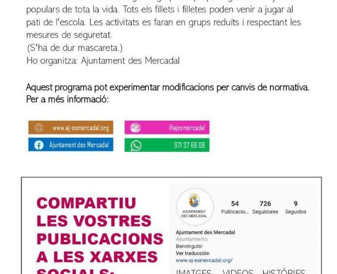 Programa de fiestas Sant Martí 2020 pág8