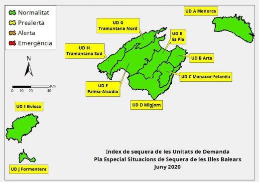 Reservas hídricas en Baleares a junio 2020