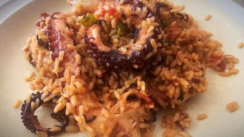 arroz con pulpo