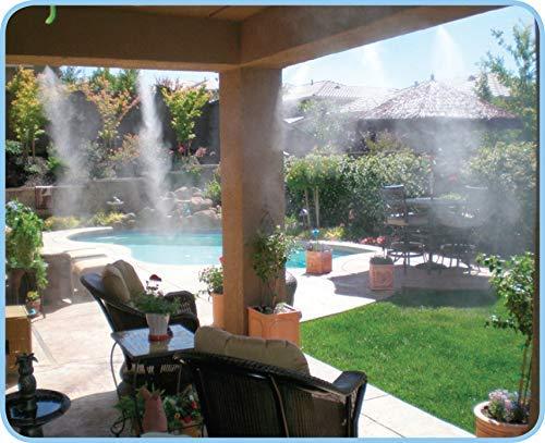 Nebulizadores en una terraza