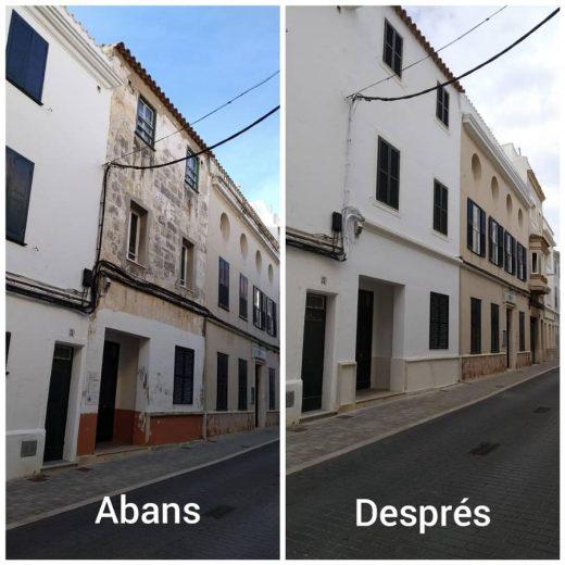 Fachada del edificio de la antigua escuela infantil Sant Josep de Maó
