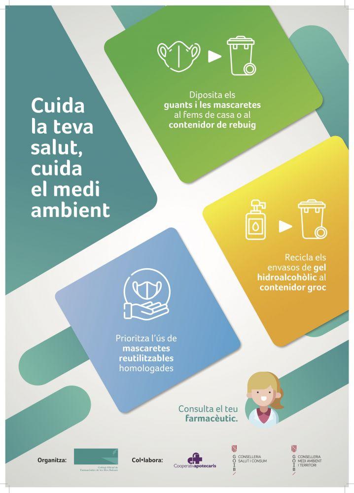 El cartel de la campaña de buenas prácticas (Foto: CAIB).