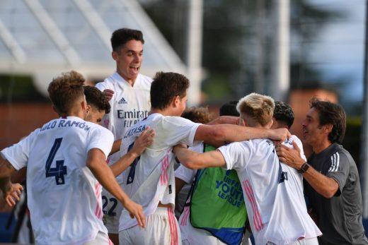 Alegría tras un gol de los blancos (Foto: UEFA.com)