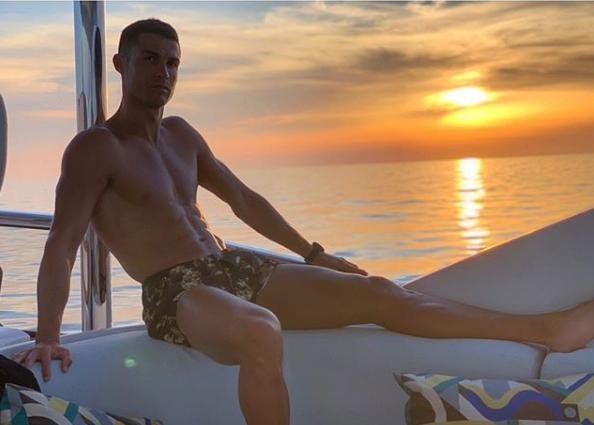 Cristiano Ronaldo, en su yate.