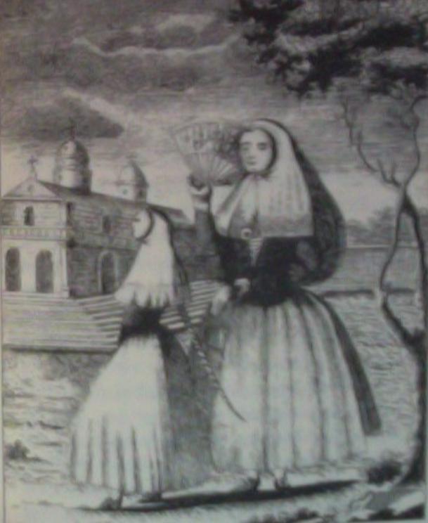 Ilustración de una noble menorquina