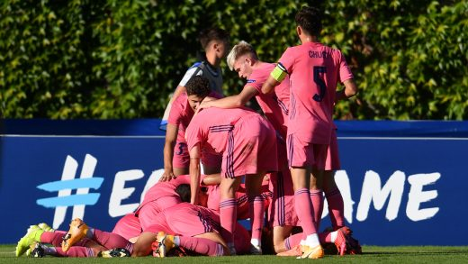 Celebración de uno de los goles del Real Madrid.