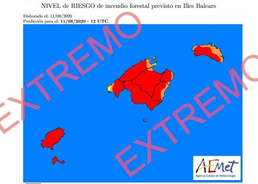 Todas las islas Baleares están en riesgo