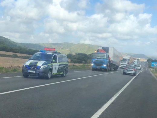 (Vídeo y fotos) Restablecido el tráfico en la carretera general tras horas de colas kilométricas