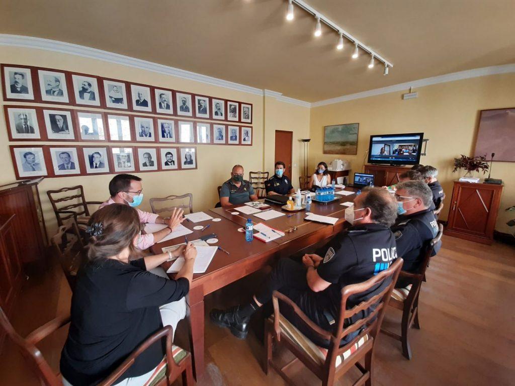 Reunión de la Junta de Seguretat (Foto: Ajuntament de Maó)