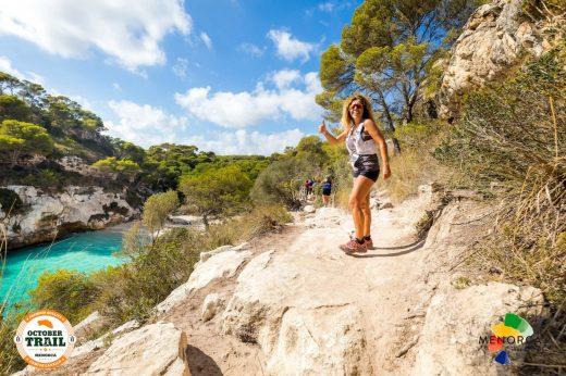 El recorrido de la October Trail Menorca atraviesa algunas de las playas más espectaculares de Menorca (Foto:BIOSPORT).