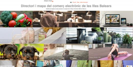 Portada del portal del comercio electrónico de Baleares