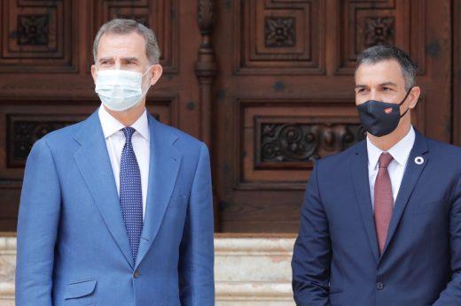 Reunión del presidente Pedro Sánchez con el rey Felipe VI en Marivent
