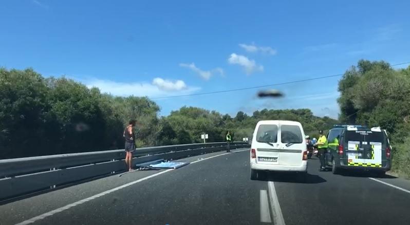 El incidente ha ocurrido en el tramo entre Alaior y es Mercadal