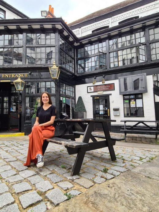 Patricia en la localidad de Reading donde vive desde hace dos años