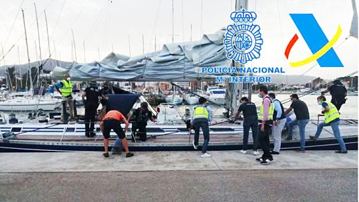 Un momento de la intervención de la Policía Nacional.