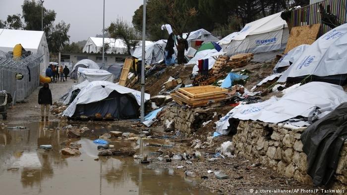 Campamento de refugiados en Moria.