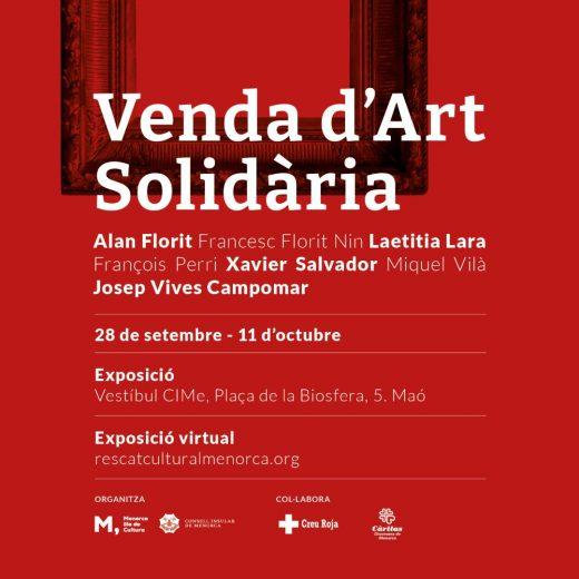 Cartel de la iniciativa solidaria de artistas de Menorca
