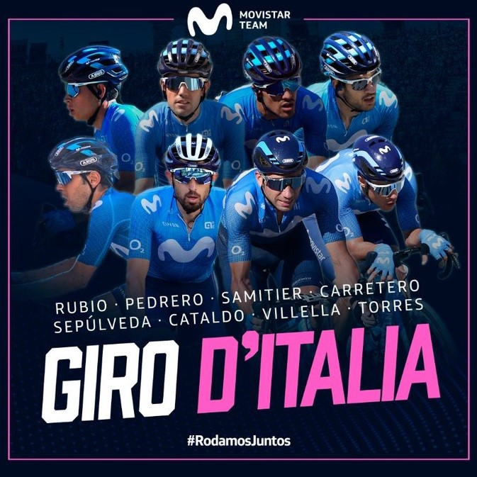 El Movistar Team para el Giro.