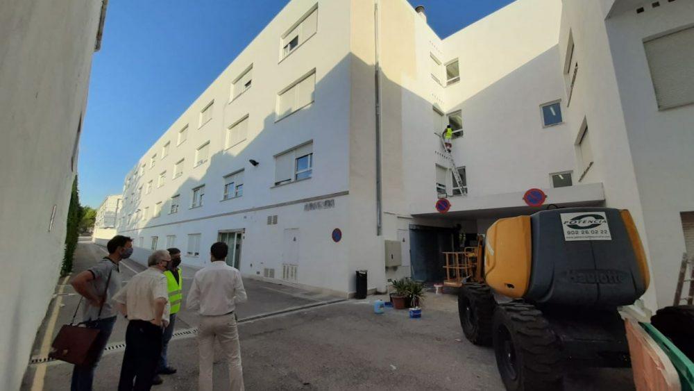 Visita de los gestores del Ajuntament a las obras (Fotos: Ajuntament de Maó)