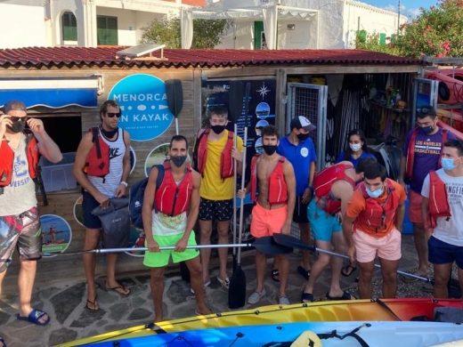 (Fotos) Un día en kayak para el Hestia Menorca