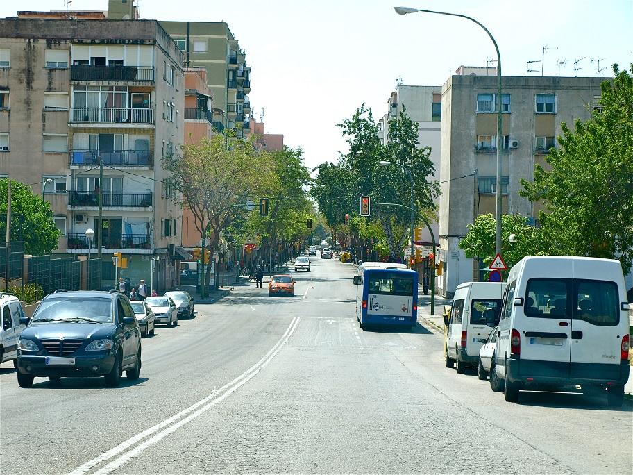 Barrio de Son Gotleu, uno de los afectados.