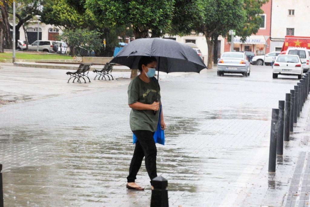El verano acaba con lluvias en Menorca