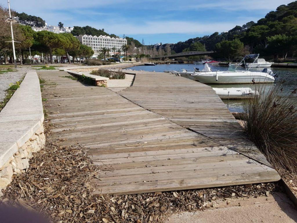 Pasarela del torrente (Foto: Ajuntament de Ciutadella)