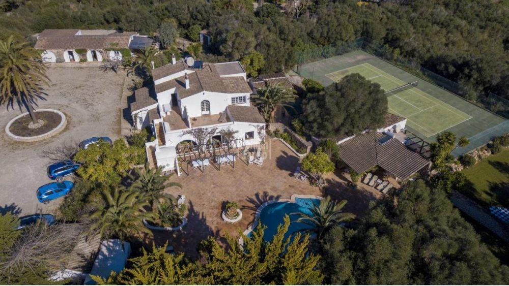 Vista aérea de la propiedad (Fotos: Bonnin Sansó)