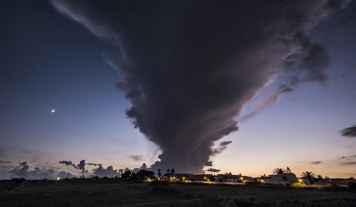 Nube captada desde Sol del Este, en Es Castell (Foto: Mikel Llambías)
