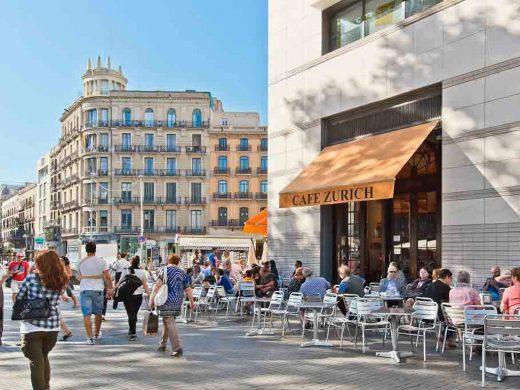 Café Zúrich de Barcelona.