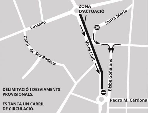 Cambios de circulación este martes en Maó