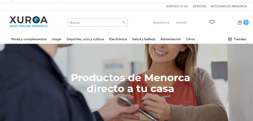 Captura de pantalla de la página web de Xuroa.com.