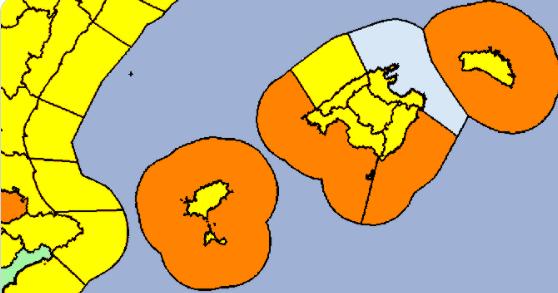 Mapa de alertas de la Aemet para el viernes.