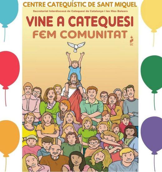 Cartel del Obispado y el Centro Catequístico de Sant Miquel editado este año