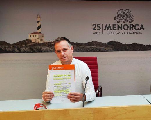 Eugenio Ayuso, coordinador del Comité insular de Ciudadanos Menorca