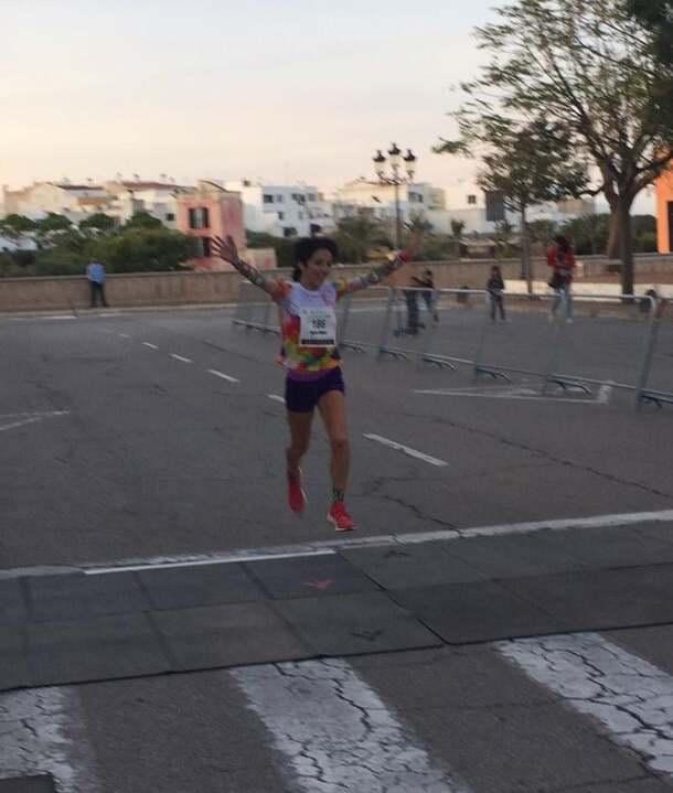 Maria Pallicer llegando a meta (Foto: Elitechip)