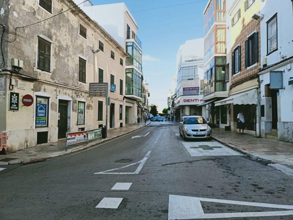 Tramo de la calle Ses Moreres que se remodelará