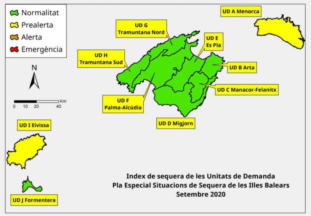 Situación actual de los índices de sequía en Baleares