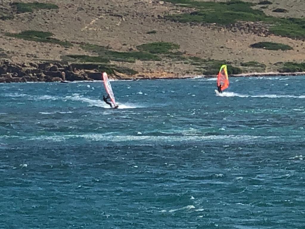 El mar y el viento les ha dado una buena oportunidad (Foto: Tolo Mercadal)