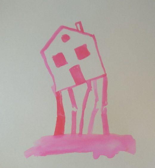 Casa que s'esfondra.