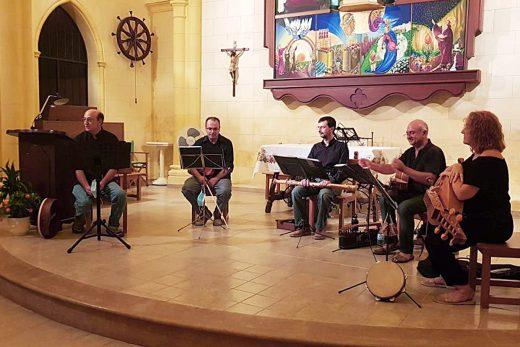 La formación, en un concierto en Ciutadella.