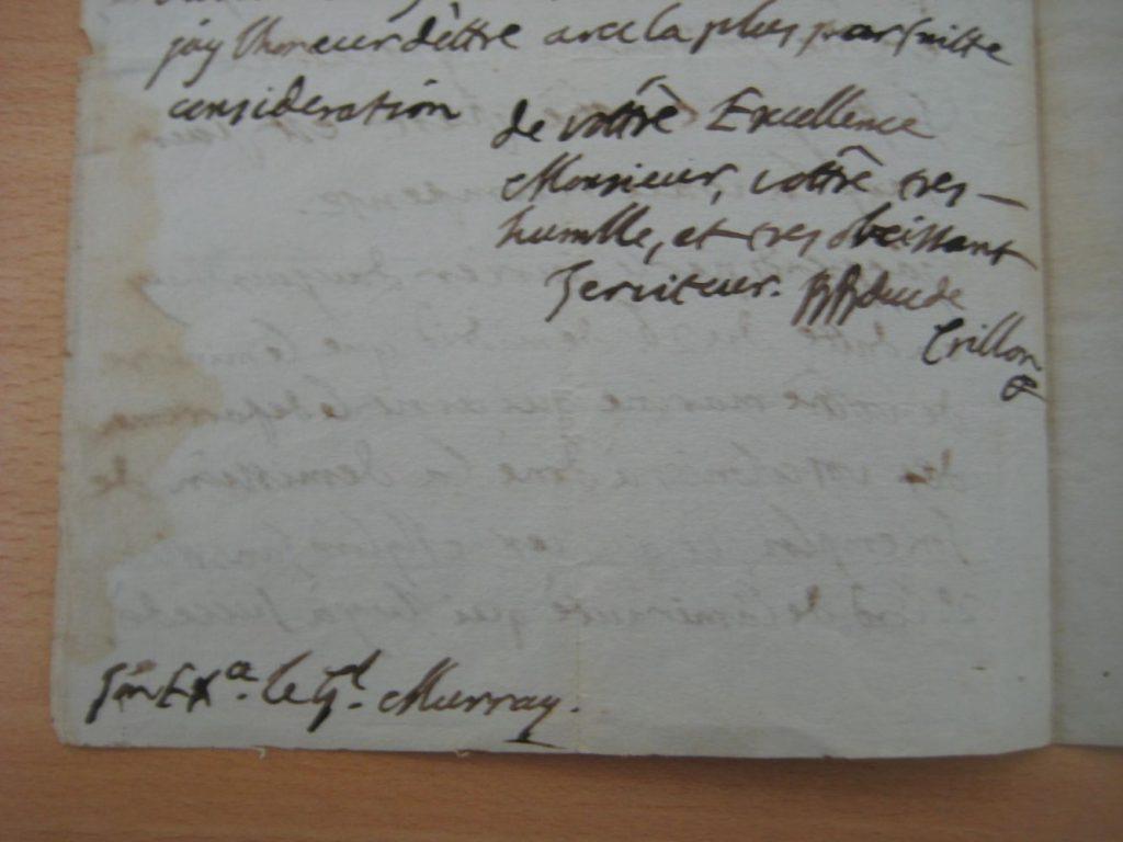 Imagen de una de las cartas donadas al Archivo Histórico de Maó