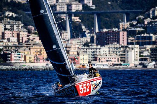 Felip Moll, en un momento de la regata (Fotos: CN Ciutadella)