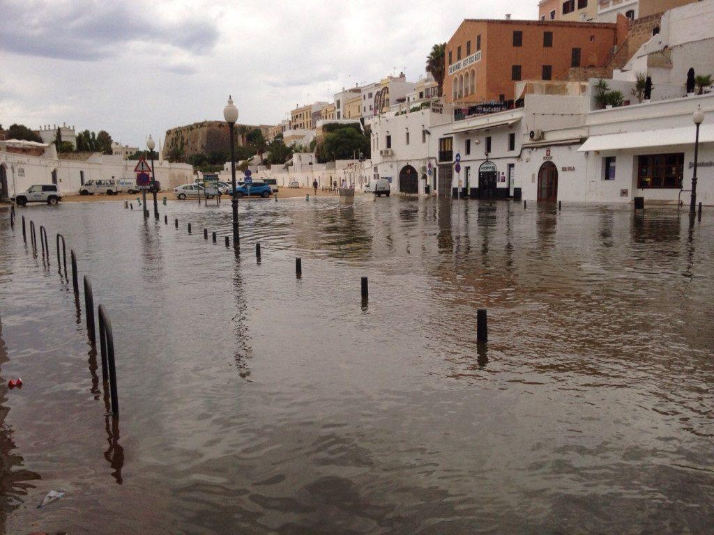 Rissaga en el puerto de Ciutadella.
