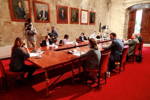 Imagen de la reunión de Diálogo Social de Baleares celebrada este viernes